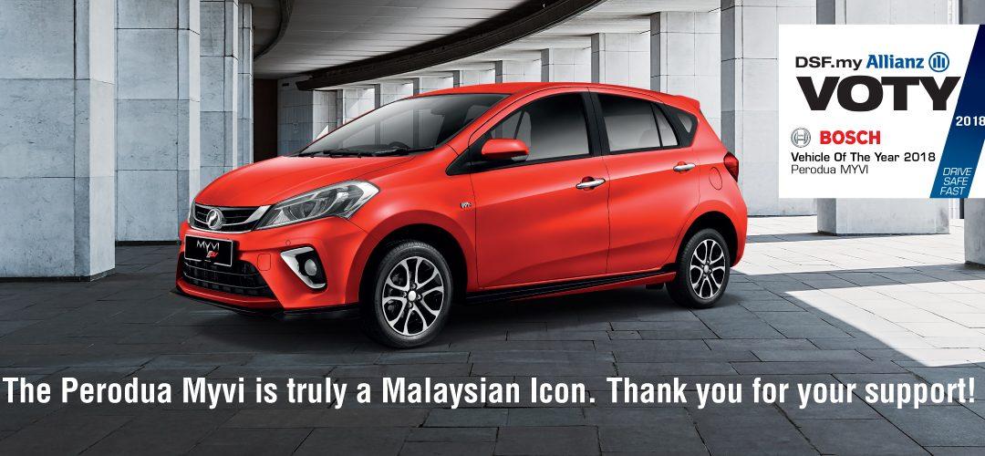 Perodua Myvi juarai segmen Aras Mula di Anugerah Malaysia Car of the Year
