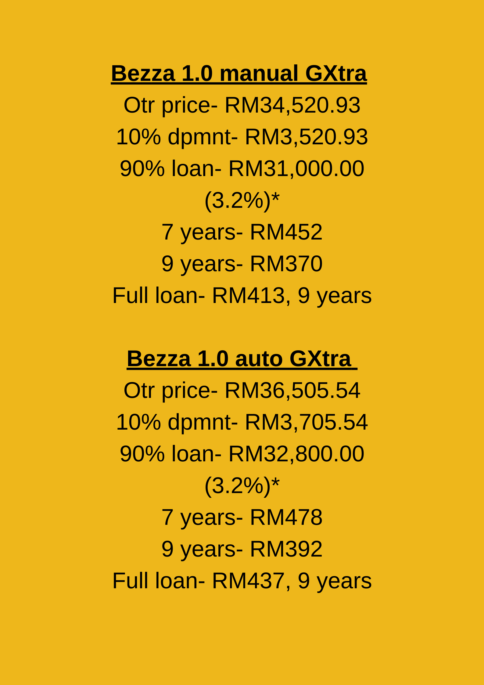 Bezza Price